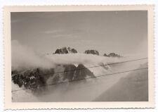 PHOTO ANCIENNE Chaîne du Mont Blanc Alpes 1961 Paysage de montagne Chamonix