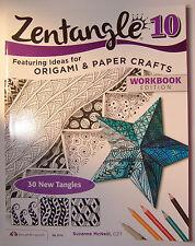 Zentangle 10  Ideas for Origami and Paper Crafts Design Originals Workbook New