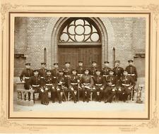 Frankfort, Officiers  Vintage silver print Tirage argentique  22x28  189
