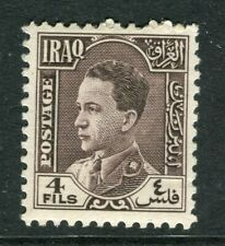IRAQ; 1934 early King Ghazi issue Mint hinged 4f. value