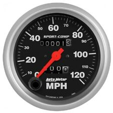 "Auto Meter 3992 Speedometer; 3 3/8""; 120Mph; Mechanical; Sport-Comp NEW"
