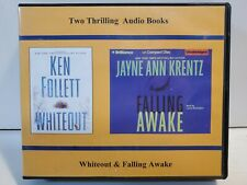 Two Audio Books- WHITEOUT, Follett, FALLING AWAKE, Krentz