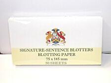 SIGNATURE-SENTENCE BLOTTERS  BLOTTING PAPER 75 x 145 mm  OFFICE, CALLIGRAPHY,