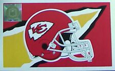 New listing Vintage '95 Kansas City Chiefs Banner Flag 3'X5' Emerson Collectible New Old Stk