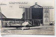 26090 Foto AK Sanke LVG Doppeldecker vor Zeppelin Halle um 1930