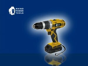 Rhino Power Tools 18v Cordless Combi Drill/Hammer/Fast Charge/Li-ion Battery