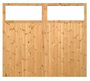 WOODEN HAND MADE SIDE HUNG GARAGE DOORS (TIMBER) 'BRATTON'