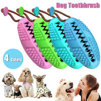 Dog Toothbrush Chew Stick Cleaning Toy Silicone Pet Brushing Oral Dental  * ^
