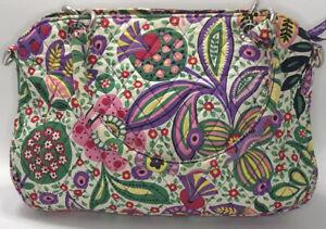 Vera Bradley purse quilted floral detachable straps multicolor outside pocket