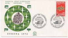 FRANCE 1972.F.D.C.EUROPA.CONSEIL DE L'EUROPE.OBLITERATION:LE 22/4/72 STRASBOURG