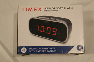 Timex® Alarm Clock with 0.7-Inch Red Display in Black