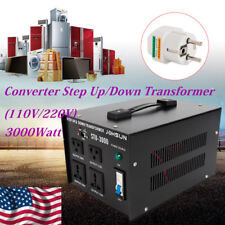 3000W Heavy Duty Voltage Regulator Converter Transformer 110V/220V Step Up/Down