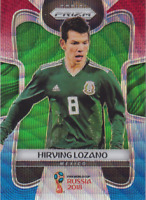 HIRVING LOZANO 2018 PANINI PRIZM WORLD CUP RED & BLUE WAVE PRIZM MEXICO