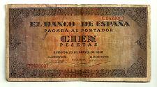 BILLETE DE 100 PESETAS DE 1938 (BC+) BURGOS (SERIE C)