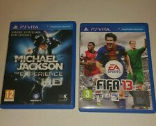 2 x Games FIFA 13 Legacy PSV & Michael Jackson UK PAL Sony PlayStation Vita PS