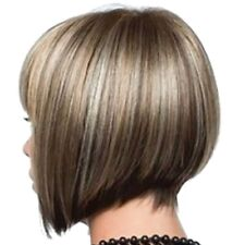 3X(Short Hair Cosplay Hair Wig Female Natural Real Party Wig H1Y7)