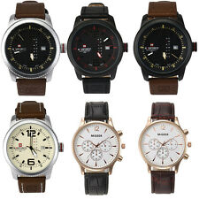 Naviforce Fashion Mens Luxury Leather Strap Army Date Analog Quartz Wrist Watch