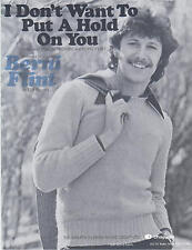I Don't Want To Put A Hold On You - Berni Flint - 1977 Sheet Music
