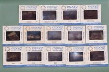 Lot of 14 - 35mm Souvenir Slides MONTREAL EXPO 67 Canada Bellevue Photo