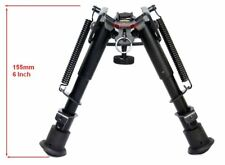 Harris Style 6-9 inch Tactical Bipod, Sling Connection, 6 Levels, Mount Included