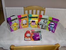 Childrens Robot party/lunch boxes, brand new and multi coloured.