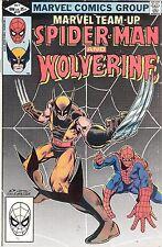 Marvel Team-up #117-118 Spider-man, Wolverine & Professor X 1982 X-men Power HTF