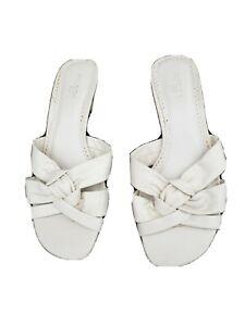 M&S Footglove Ivory  Slip On Sandals UK 5 Wider Fit