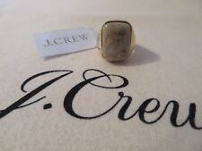 NEW J.CREW  RING, GRAY STONE, SIZE 7 GOLD