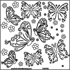 THE CRAFTERS WORKSHOP 6 x 6 Template MINI BUTTERFLIES TCW175s