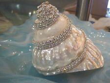 Wavy Top Pearlized Swarovski Crystal Turbo Shell - Turbo Shell - Seashell Supply