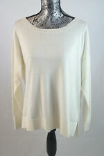 Lacoste White Light Silk Summer Sweater Sz 42/10 $155 AF1064 BNWT 100% Authentic
