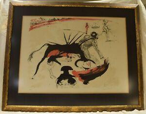 SALVADOR DALI Tauromachie de Dali BULLFIGHT #3 Original 1966 Lithograph Signed