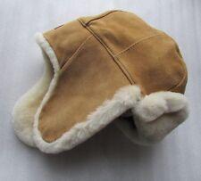 UGG Hat Aviator Chestnut Suede Shearling L/XL NEW $245
