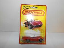 MATCHBOX S/F NO.42-D 1957 FORD T-BIRD RED BODY, U/P U.K.BASE 5 ARCH MIBLISTER