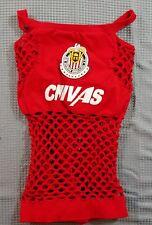 CHIVAS Club del Guadalajara Women's Red Stretch Holey Cropped Tank Top Soccer B1