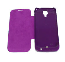 3500MAH BACKUP BATTERY CHARGER POWER FLIP CASE COVER PURPLE FOR GALAXY S IV