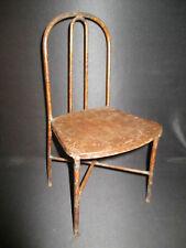 ancienne grande chaise de poupée en tôle peinte fin XIX ème ou début XX ème