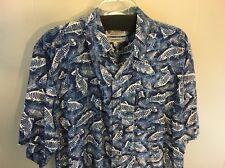 Columbia Sportswear Portland Size Large Fish Print Men's Shirt