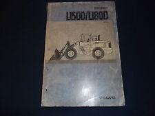 VOLVO L150D L180D WHEEL LOADER SERVICE SHOP REPAIR MANUAL BOOK
