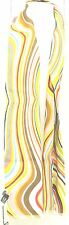 Sciarpa Paul Smith righe ondulate multicolor lana made in Italy orlo a frangia