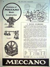 1933 'MECCANO' Construction Kits ADVERT (Engine Governors) - Original Print AD