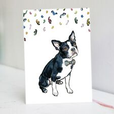 Boston Terrier Birthday Card - Boston Terrier Card
