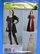 STEAMPUNK Costume Halloween Renaissance Cosplay Simplicity c1773  14-22 NEW