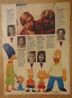Vintage 1990 BART SIMPSON TV CAST Original Print News Article Clipping