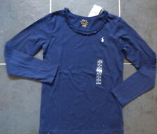 Authentic Ralph Lauren Navy Long Sleeve Top in Ages 4 6 7 8 16 - Small (7)