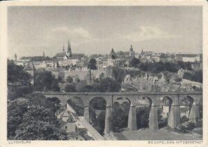 Luxembourg, Bockfelsen mit Oberstadt ngl F0609