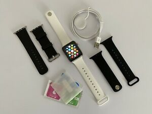 Apple Watch Series 3 42mm Stainless Steel (Gps + Cellular) with 3 Bands + Extras