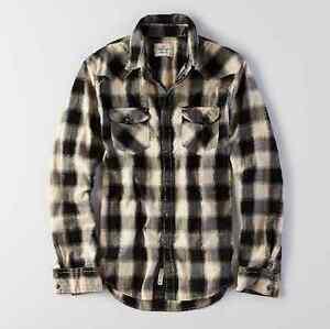 NWT【 M 】American Eagle AEO MEN'S Plaid Western Work Wear Shirt