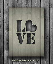 A5 Love Mylar Reusable Stencil Airbrush Painting Art Craft DIY Home Decor