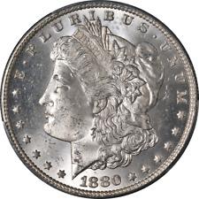 1880/9-S Morgan Silver Dollar Pcgs Ms63 Blast White Superb Eye Appeal